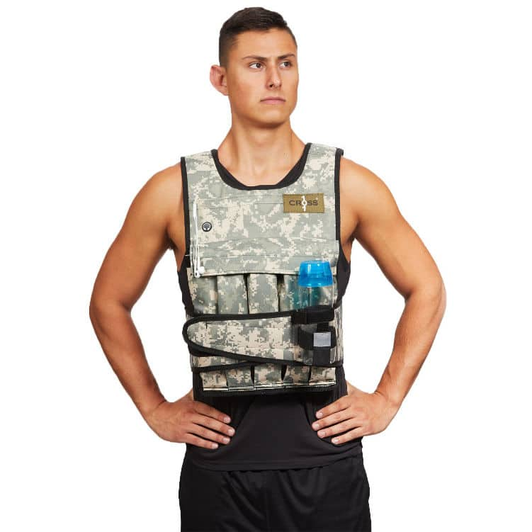 Cross101 Adjustable Camouflage Weight Vest