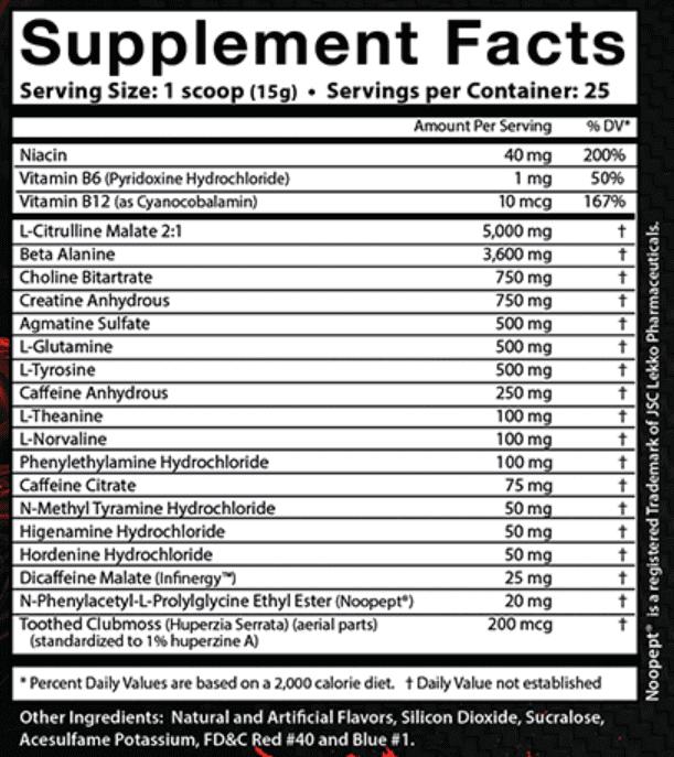 Wild Thing Ingredients